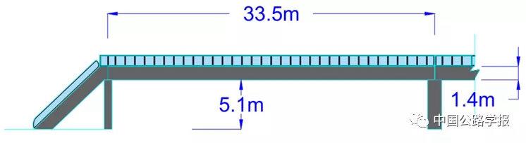 图2-1 天桥立面图